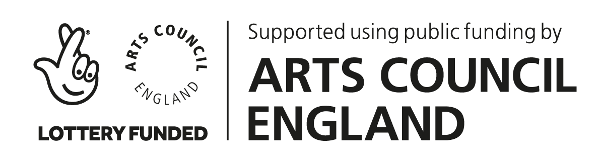 Arts Council England logo in black and white.